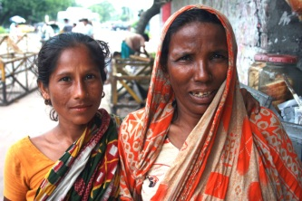 These ladies daily are on the street begging.