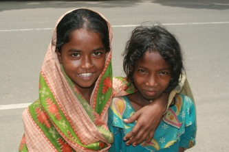These girls were more than glad to pose for a photo