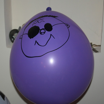 Nicely decorated balloon