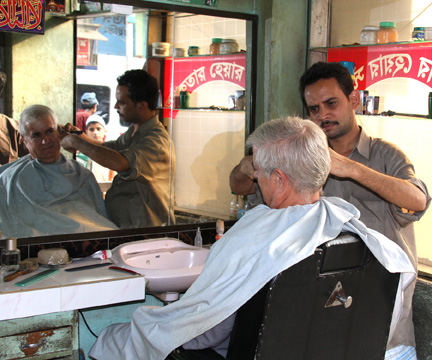 Barber in action!