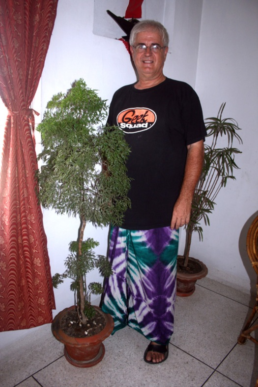 Me in a lungi and my favorite t-shirt!