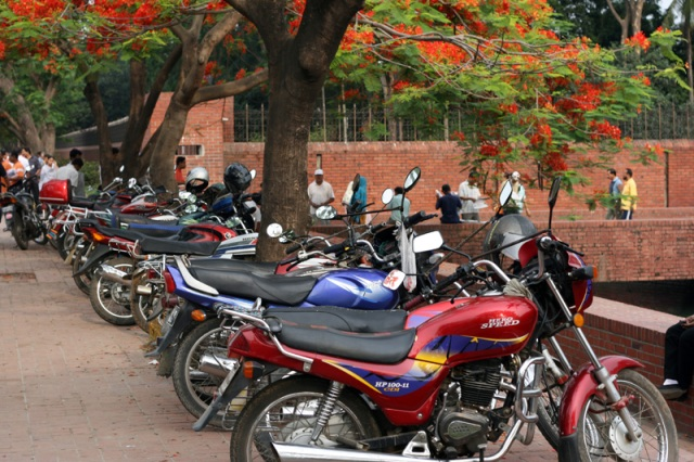 Motorcycle Parking lot?