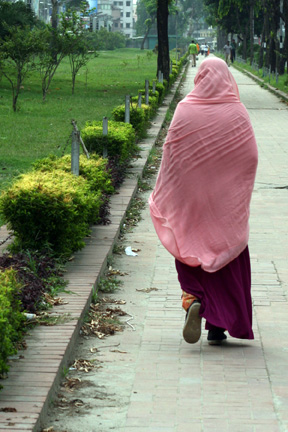 One of 7 million ladies in the city of Dhaka.