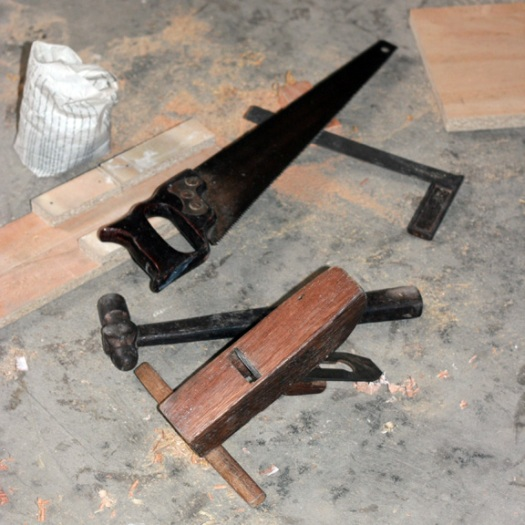 Carpenter tools sitting idle
