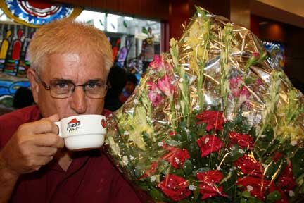 Coffee, birthday and flowers!