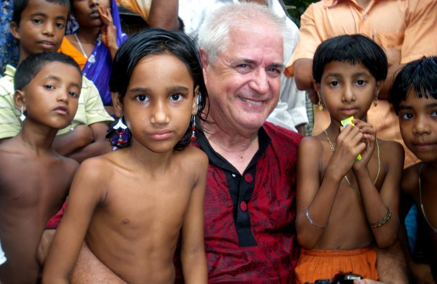 Me with village children
