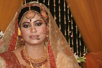 Hasina B. Halim Pretty all decked out in the finest Bengali wedding attire!