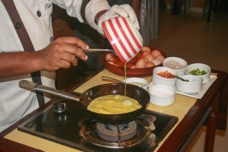 Chef Frying Up an Omelet!