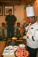 Platinum Suites Chef at Work!