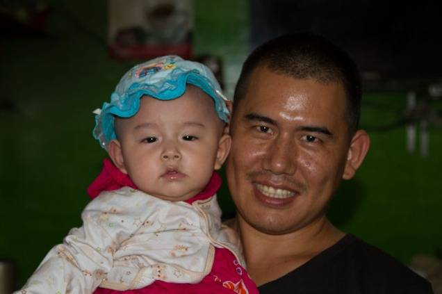 Jeremiah with his daughter, Cinderella!