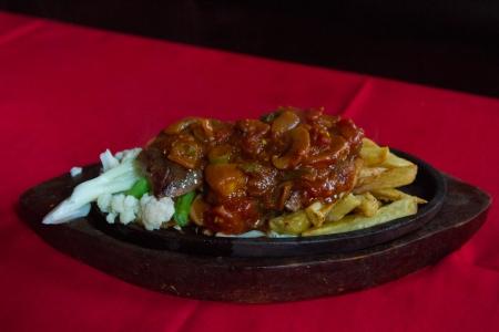 Steak, veggies and Fries!
