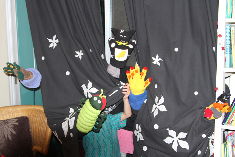 Puppets in action !