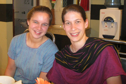 Rosanna with her friend Anna! Keep on Smiling!
