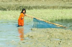 Pushing the Net in Knee-Deep Water.