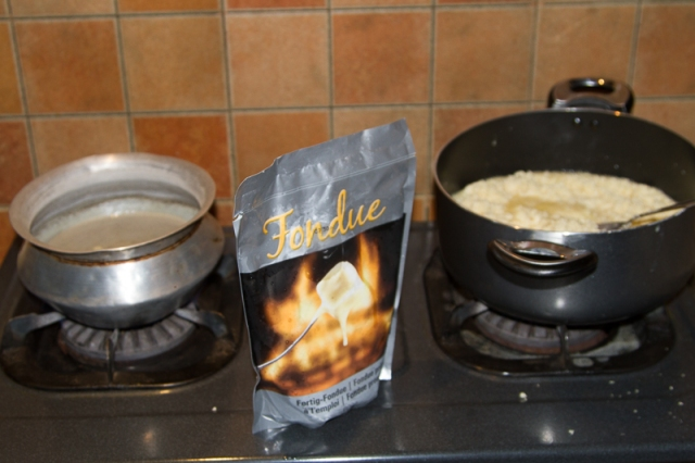 Swiss Fondue in the Making