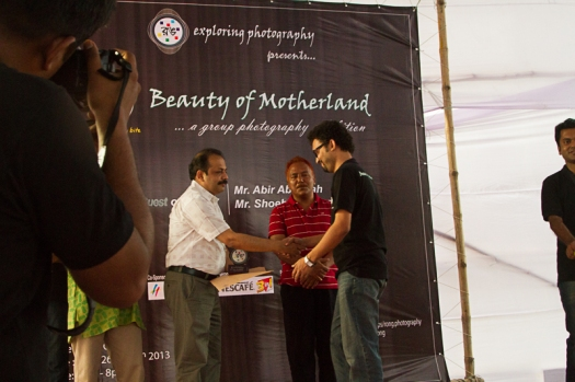 Ayon Ahmed receiving one of the 5 top awards.