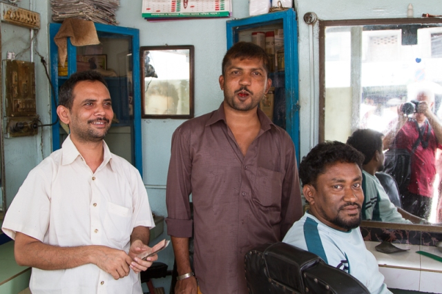 Barber, Tea Stand Operator, Customer, and the Photographer!