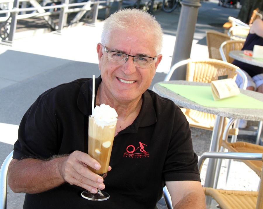 I am enjoying the cold drink.