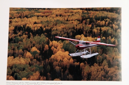 Photo of the plane in the book Alice is reading.