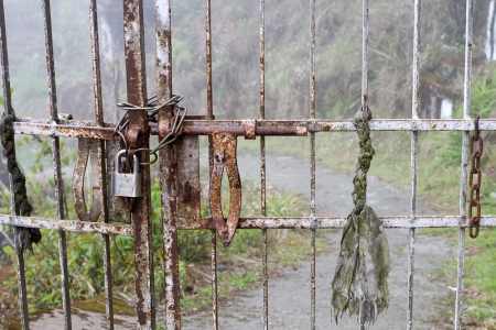 Padlock, Chains and Rope