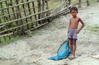 Boy With Fishing Net