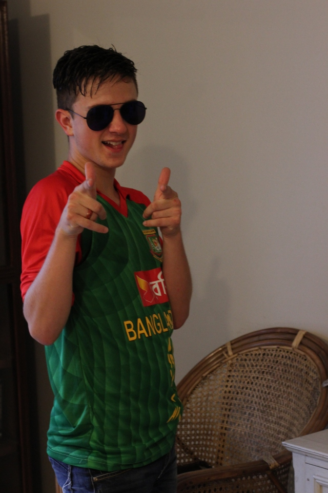 Mr. Cool Sporting the Bangladesh Cricket Jersey